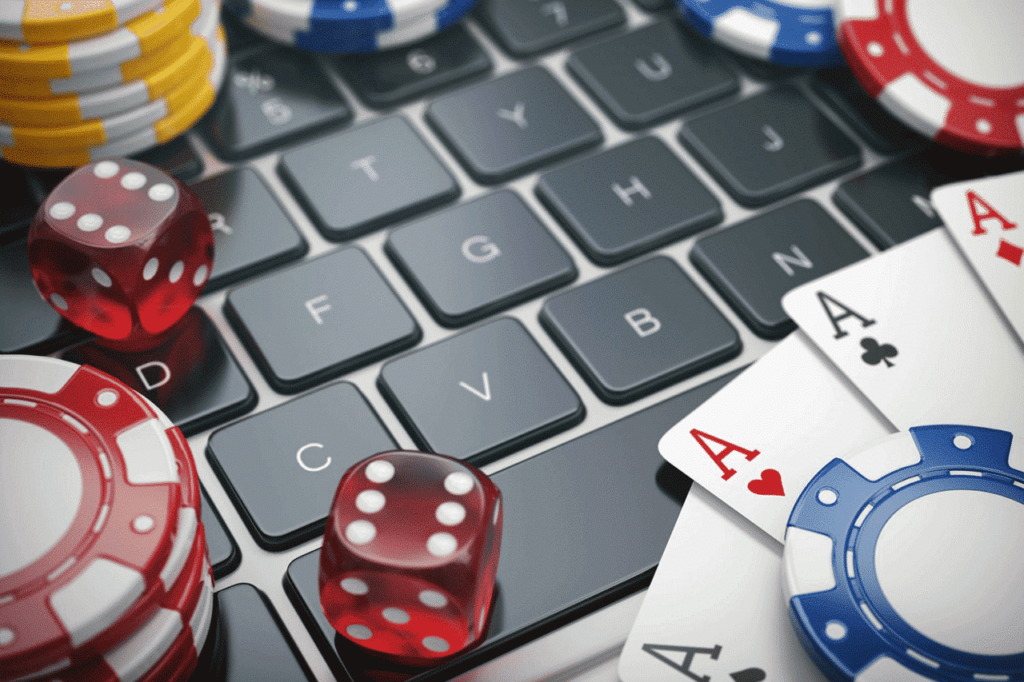 playing poker in the internet
